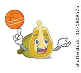 with basketball jackfruit... | Shutterstock .eps vector #1075809575