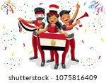 russia 2018 world cup  egypt... | Shutterstock . vector #1075816409