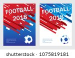 football poster template... | Shutterstock .eps vector #1075819181