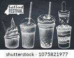 street food festival menu.... | Shutterstock .eps vector #1075821977