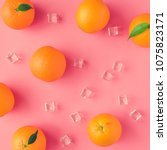 creative summer pattern made of ... | Shutterstock . vector #1075823171