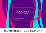 creative modern poster with... | Shutterstock .eps vector #1075824047