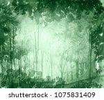 watercolor illustration  dark ... | Shutterstock . vector #1075831409