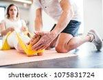 unrecognizable senior... | Shutterstock . vector #1075831724