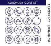 space icons made in modern line ... | Shutterstock .eps vector #1075832681