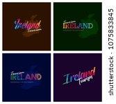 tourism ireland typography logo ... | Shutterstock .eps vector #1075833845