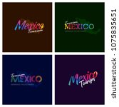 tourism mexico typography logo... | Shutterstock .eps vector #1075835651