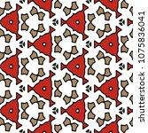 hexagonal symmetry vector... | Shutterstock .eps vector #1075836041