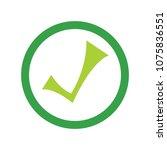 vector check mark symbol   yes... | Shutterstock .eps vector #1075836551