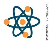 atom icon   vector molecule... | Shutterstock .eps vector #1075836644