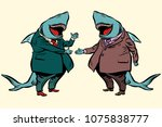 business shark deal... | Shutterstock .eps vector #1075838777