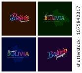 tourism bolivia typography logo ...   Shutterstock .eps vector #1075842317