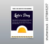 labor day typogrpahic card with ...   Shutterstock .eps vector #1075845257