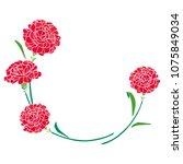 carnation mother's day...   Shutterstock .eps vector #1075849034