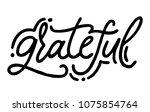 grateful. hand drawn vector... | Shutterstock .eps vector #1075854764