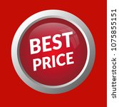 red best price web button.... | Shutterstock .eps vector #1075855151