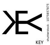 rebus word key  inverted... | Shutterstock .eps vector #1075857875