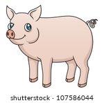 illustration of a cartoon pig....