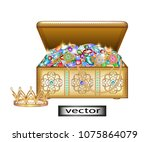 Vector. The Jewelry Box Is Ope...