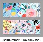 creative universal artistic... | Shutterstock .eps vector #1075869155