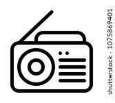 tune in radio   Shutterstock .eps vector #1075869401