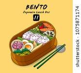 vector illustrations of bento...   Shutterstock .eps vector #1075871174