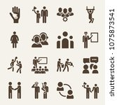 people filled vector icon set... | Shutterstock .eps vector #1075873541