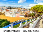 stairs from cliffs leading to... | Shutterstock . vector #1075875851