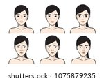 skin care illustrations.skin... | Shutterstock .eps vector #1075879235