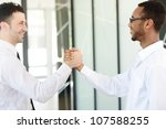 successful business people hand ... | Shutterstock . vector #107588255
