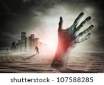 Zombie Rising. A Hand Rising...