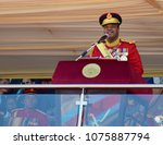 Small photo of MANZINI, SWAZILAND - APRIL 19, 2018: King Mswati III announcing that he will change Swaziland's name to the Kingdom of eSwatini, with immediate effect.