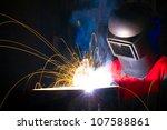 welding with sparks | Shutterstock . vector #107588861