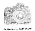 typographic slr camera.... | Shutterstock .eps vector #107590307