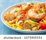 close up of a plate of rustic... | Shutterstock . vector #1075905551