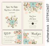 vector set of invitation cards... | Shutterstock .eps vector #1075912607