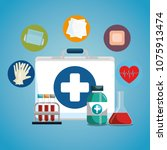 medical service set icons | Shutterstock .eps vector #1075913474