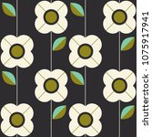 seamless pattern with flowers... | Shutterstock .eps vector #1075917941
