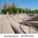 Downtown Toronto Waterfront in Canada - stock photo