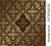 thai art luxury temple ... | Shutterstock .eps vector #1075926155