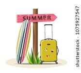 summer holidays vector...   Shutterstock .eps vector #1075927547