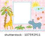 baby frame or card. vector...   Shutterstock .eps vector #107592911