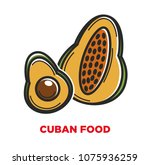 cuban food promo banner with... | Shutterstock .eps vector #1075936259