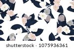floral seamless pattern  dark... | Shutterstock .eps vector #1075936361