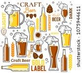 beer elements collection... | Shutterstock .eps vector #1075944611