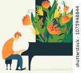 vector jazz poster with... | Shutterstock .eps vector #1075948844