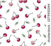 hand drawn seamless pattern.... | Shutterstock .eps vector #1075950344
