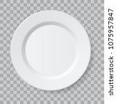 vector empty realistic ceramic... | Shutterstock .eps vector #1075957847
