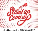 stand up comedy background. | Shutterstock .eps vector #1075967807