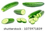 collection of fresh green... | Shutterstock . vector #1075971839